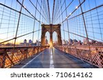 New York  Brooklyn Bridge At...