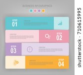 infographics template of four...   Shutterstock .eps vector #710615995