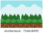 nature  forest  mountain and... | Shutterstock .eps vector #710618392