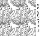 black white seamless pattern... | Shutterstock .eps vector #710618812