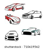 sport car vector | Shutterstock .eps vector #710619562