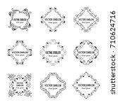 vector ink logo template... | Shutterstock .eps vector #710624716