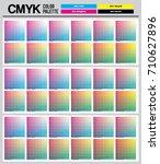 colour palette to cmyk. process ... | Shutterstock .eps vector #710627896