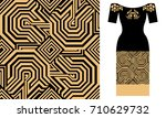 oriental ornaments. party dress ... | Shutterstock .eps vector #710629732