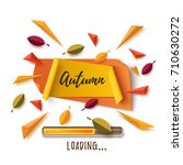 autumn banner with abstract... | Shutterstock .eps vector #710630272