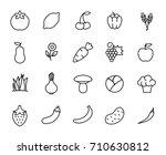 premium set of healthy eating... | Shutterstock .eps vector #710630812