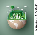 concept of eco friendly   save ... | Shutterstock .eps vector #710632645