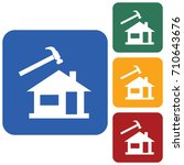 roofer   slater icon. vector...