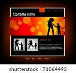 family website template  vector   Shutterstock .eps vector #71064493