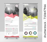 business roll up design... | Shutterstock .eps vector #710647966