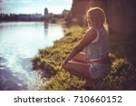 young woman | Shutterstock . vector #710660152