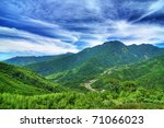 mountain landscape under blue... | Shutterstock . vector #71066023