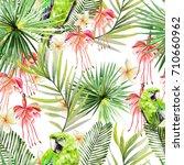 beautiful watercolor seamless...   Shutterstock . vector #710660962