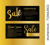 golden banners. gold text. gift ... | Shutterstock .eps vector #710662822