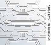 circuit board light color 3d... | Shutterstock .eps vector #710664052