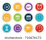 time icons | Shutterstock .eps vector #710676172