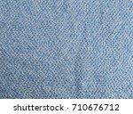 blue fabric texture. fabric... | Shutterstock . vector #710676712
