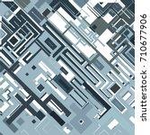 complex pixel pattern... | Shutterstock .eps vector #710677906