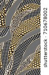 Stock photo geometric pattern black anc gold background for textile wallpaper pattern fills covers 710678002