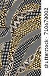 geometric pattern.. black anc... | Shutterstock . vector #710678002