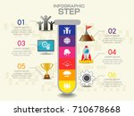 infographics in the form of... | Shutterstock .eps vector #710678668