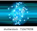 binary circuit future... | Shutterstock .eps vector #710679058
