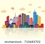 vector illustration of colorful ... | Shutterstock .eps vector #710683702