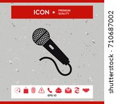 microphone icon | Shutterstock .eps vector #710687002