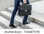 Focus On Bag. Businessman With...