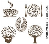 restaurant icons in form of ... | Shutterstock .eps vector #71068921