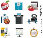vector fitness icon set | Shutterstock .eps vector #71069278