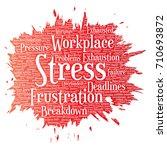 vector conceptual mental stress ... | Shutterstock .eps vector #710693872