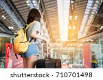 asian women were carrying... | Shutterstock . vector #710701498