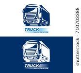 truck logo illustration on...   Shutterstock .eps vector #710703388