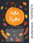 image of happy thanksgiving... | Shutterstock .eps vector #710705272