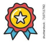 award vector icon | Shutterstock .eps vector #710711782