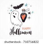 halloween party  hand drawn... | Shutterstock .eps vector #710716822