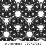 3d chain made from transparent... | Shutterstock . vector #710717362