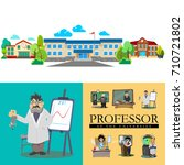 back to school concept  lesson... | Shutterstock .eps vector #710721802