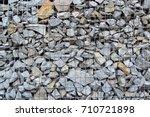 gabion fence background  gabion ... | Shutterstock . vector #710721898