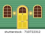 vector flat icons windows and... | Shutterstock .eps vector #710722312