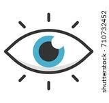 eye vector icon | Shutterstock .eps vector #710732452