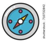 compass vector icon | Shutterstock .eps vector #710732842