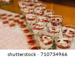 catering wedding buffet for... | Shutterstock . vector #710734966