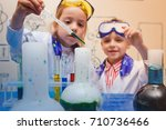 student doing research with...   Shutterstock . vector #710736466