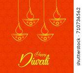 illustration of happy diwali... | Shutterstock .eps vector #710736562