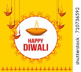 illustration of happy diwali... | Shutterstock .eps vector #710736592