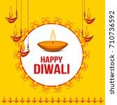 illustration of happy diwali... | Shutterstock .eps vector #710736592