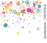 memphis festive round confetti...   Shutterstock .eps vector #710737216