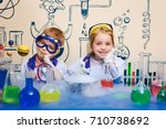student doing research with... | Shutterstock . vector #710738692